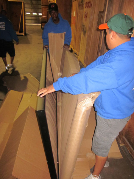 Packing Two Large Paintings