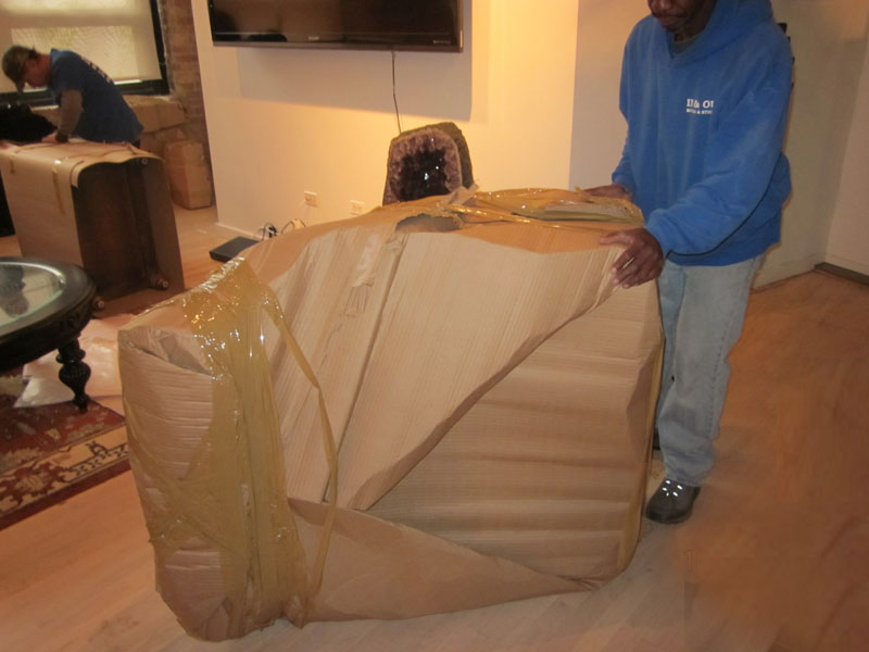 International Shipping Wrapping Arm Chair.